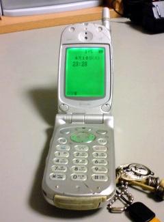 7年前の携帯