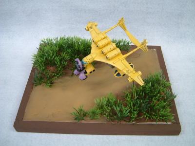 地球連邦軍輸送機ミデアとオルテガドム